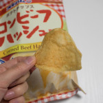 オキハムのコンビーフハッシュが「ポテトチップス」になっている!
